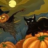 Vintage Halloween Cats Wallpapers