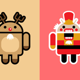 Cartoon Christmas Logos Wallpapers