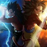 SSJ4 Goku And SSJB Vegeta Wallpapers